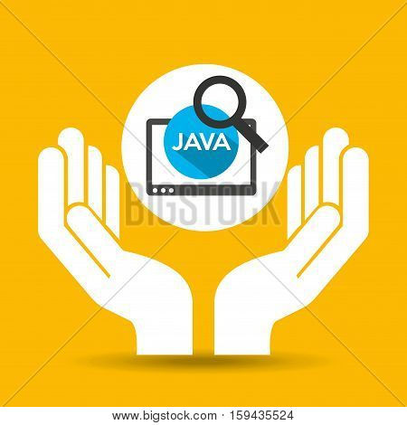 hand optimization technology java web vector illustration eps 10