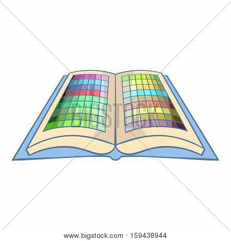 Color booklet icon. Cartoon illustration of color booklet vector icon for web design