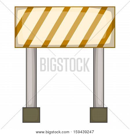 Prohibitory road sign icon. Cartoon illustration of road sign vector icon for web design