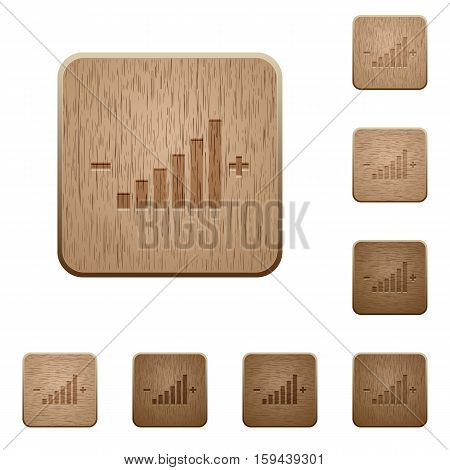 Control element icons in carved wooden button styles