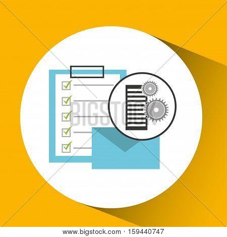 database setting email mail check list vector illustration eps 10