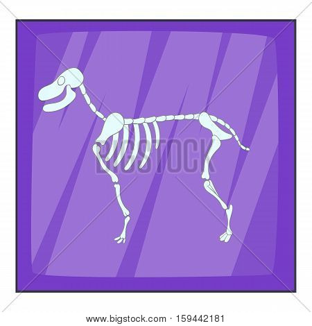 Dog skeleton icon. Cartoon illustration of dog skeleton vector icon for web