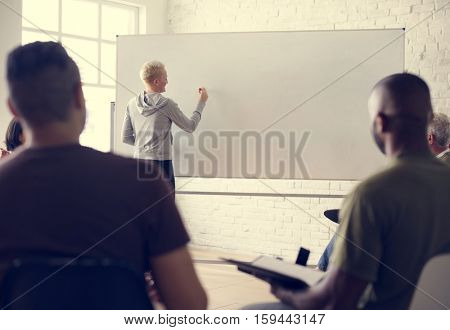 White Board Networking Seminar Concept