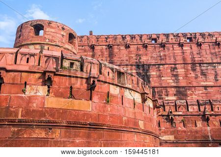 Agra Fort, Uttar Pradesh, India.