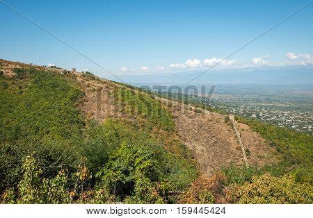 Signagi City Walls In Kakheti Region In Georgia