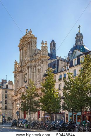 Church of Saint-Paul-Saint-Louis is a church on rue Saint-Antoine in t Paris. The present building was constructed from 1627 to 1641