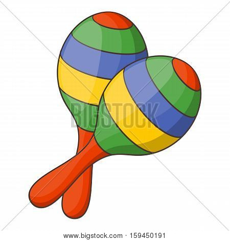 Maracas icon. Cartoon illustration of maracas vector icon for web