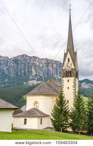 Church of Saint Giacomo and Saint Leonardo in Alta Badia - Dolomites of Italy