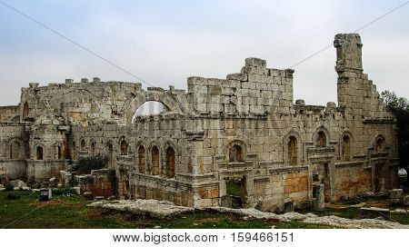 Ruins of the Church of Saint Simeon Stylites Idlib Syria