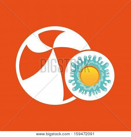 beachball summer vacation sun splashes label vector illustration eps 10
