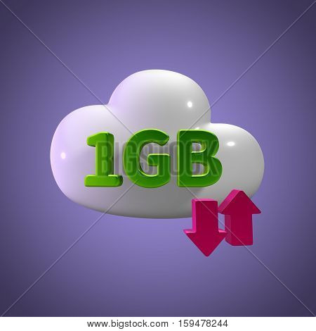3d rendering cloud download upload 1  gb capacity