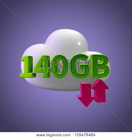 3d rendering cloud download upload 140  gb capacity