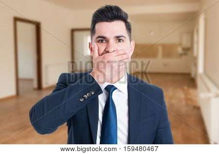 Real Estate Agent Looking Perplexed