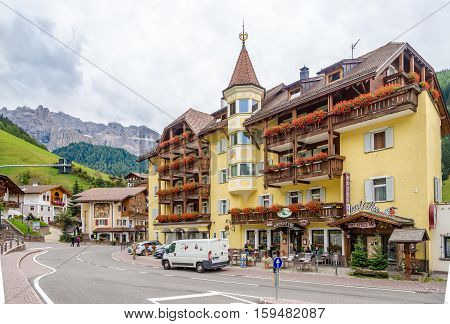 SELVA VAL GARDENA,ITALY - SEPTEMBER 16,2016 - In the streets of Selva Val Gardena. Selva is a comune in the Val Gardena in South Tyrol.