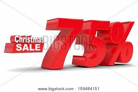 Christmas Sale. Discount Seventy Five Percent Off