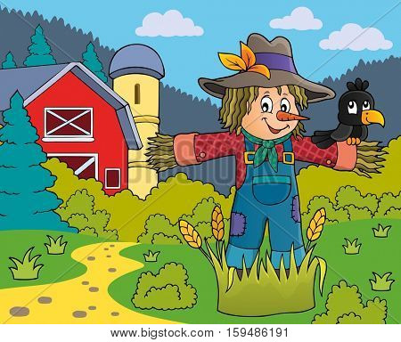 Scarecrow theme image 5 - eps10 vector illustration.