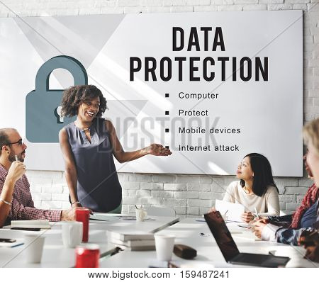 Data Security Privacy Protect Concept
