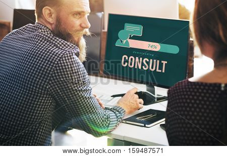 Consult Advise Sharing Strategy Planning Concept