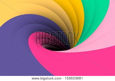 black hole multicolored background yellow 3d illustration