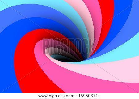 black hole multicolored background blue 3d illustration