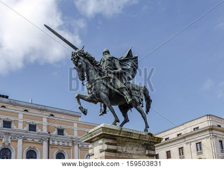 Equestrian statue of El Cid Burgos Spain
