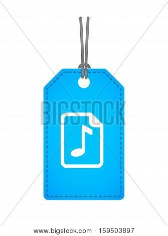 Isolated Label With  A Music Score Icon