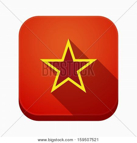 Isolated App Icon With  The Red Star Of Communism