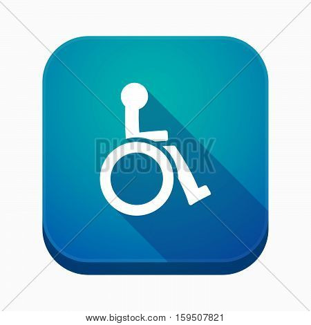 Isolated App Button With  A Human Figure In A Wheelchair Icon