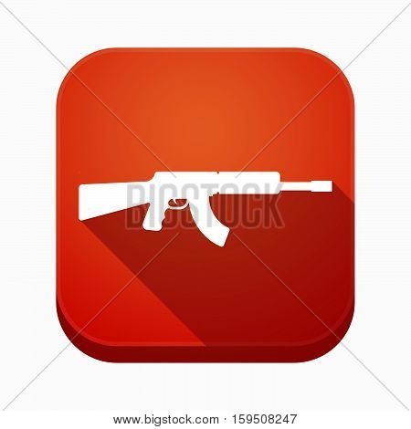 Isolated App Button With  A Machine Gun Sign