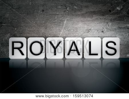 Royals Tiled Letters Concept And Theme