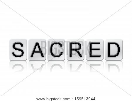 Sacred Isolated Tiled Letters Concept And Theme