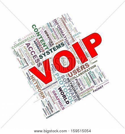 Word Tags Wordcloud Of Voip