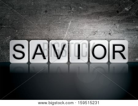 Savior Tiled Letters Concept And Theme