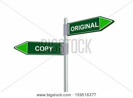 3D Copy Original Road Sign