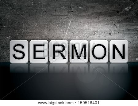 Sermon Tiled Letters Concept And Theme