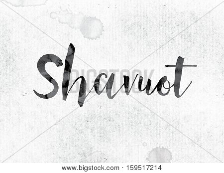 Shavuot Concept Painted In Ink
