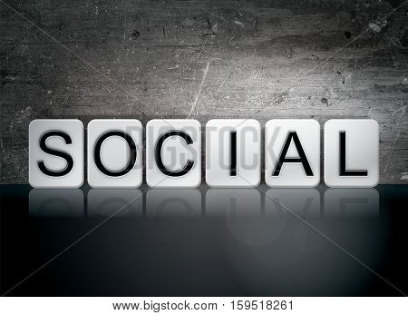 Social Tiled Letters Concept And Theme
