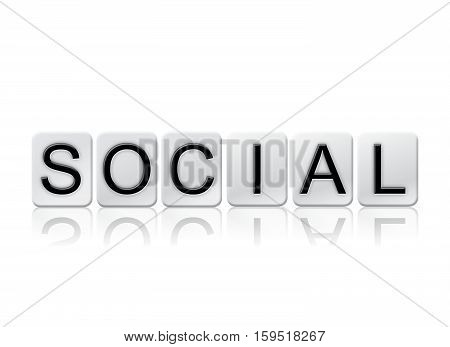 Social Isolated Tiled Letters Concept And Theme