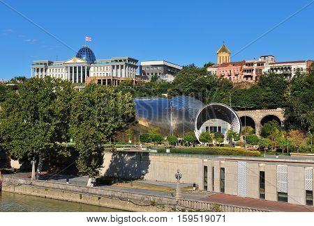 Modern architecture of Tbilisi old city, Georgia