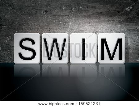 Swim Tiled Letters Concept And Theme