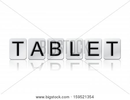 Tablet Isolated Tiled Letters Concept And Theme