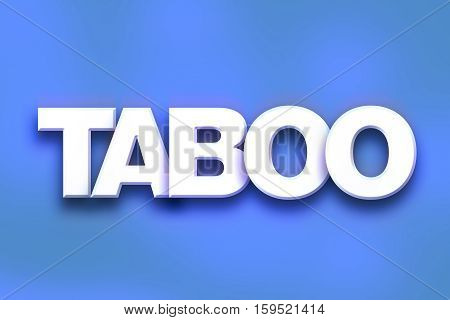 Taboo Concept Colorful Word Art