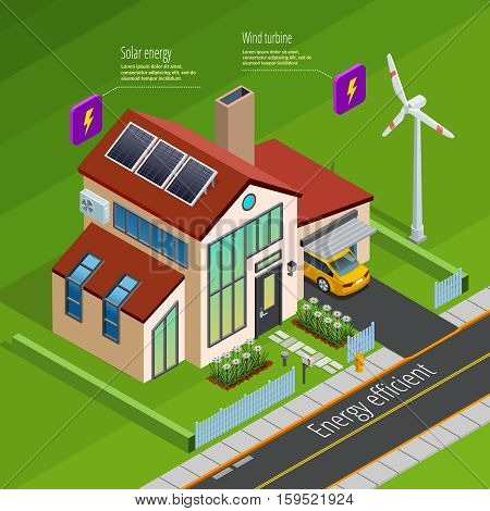 Smart home energy generation monitoring and remote computer control  systems isometric internet of things poster vector illustration