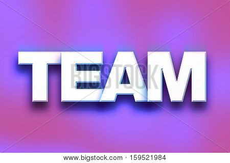 Team Concept Colorful Word Art