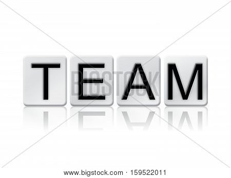 Team Isolated Tiled Letters Concept And Theme