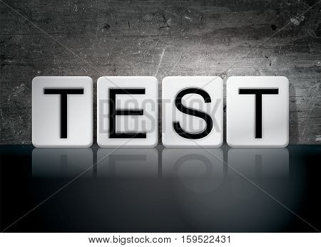 Test Tiled Letters Concept And Theme