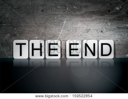 The End Tiled Letters Concept And Theme