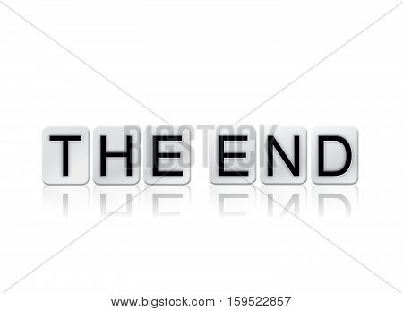The End Isolated Tiled Letters Concept And Theme