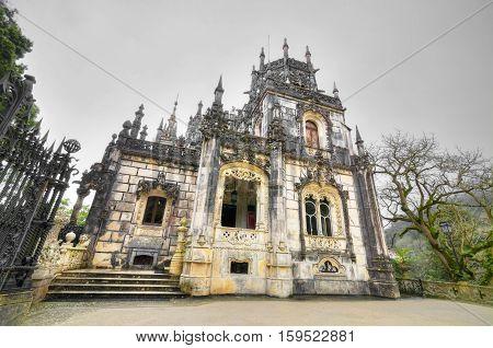 Old Mansion in Quinta da Regaleira Sintra Portugal.
