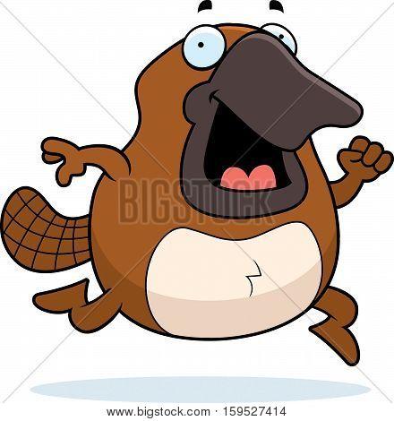 Cartoon Platypus Running